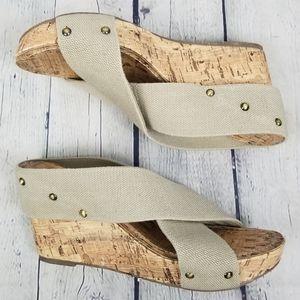 ESPRIT | Oceane slip-on platform wedge sandals